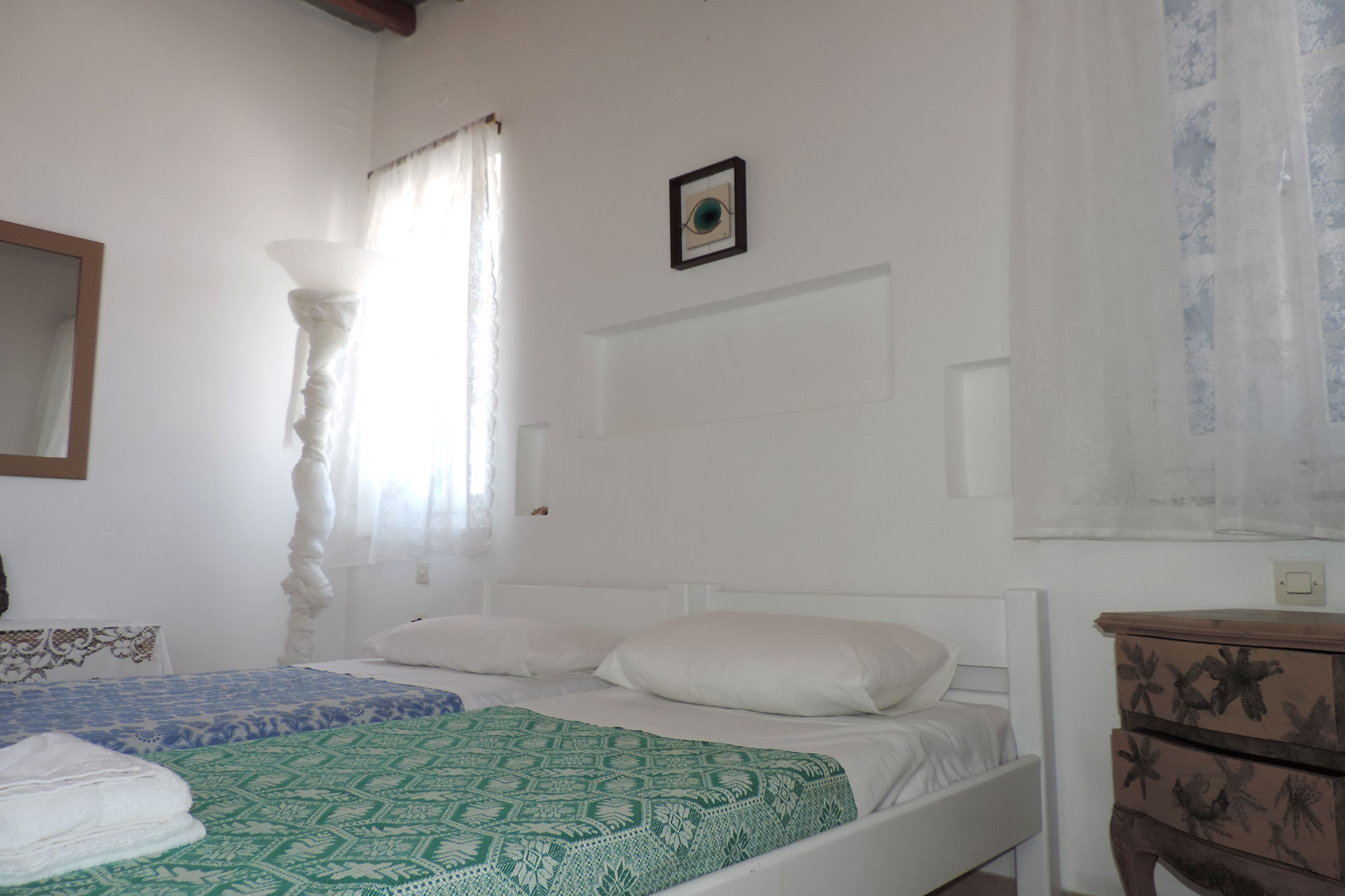 The master bedroom of Elia family house at Sifnos