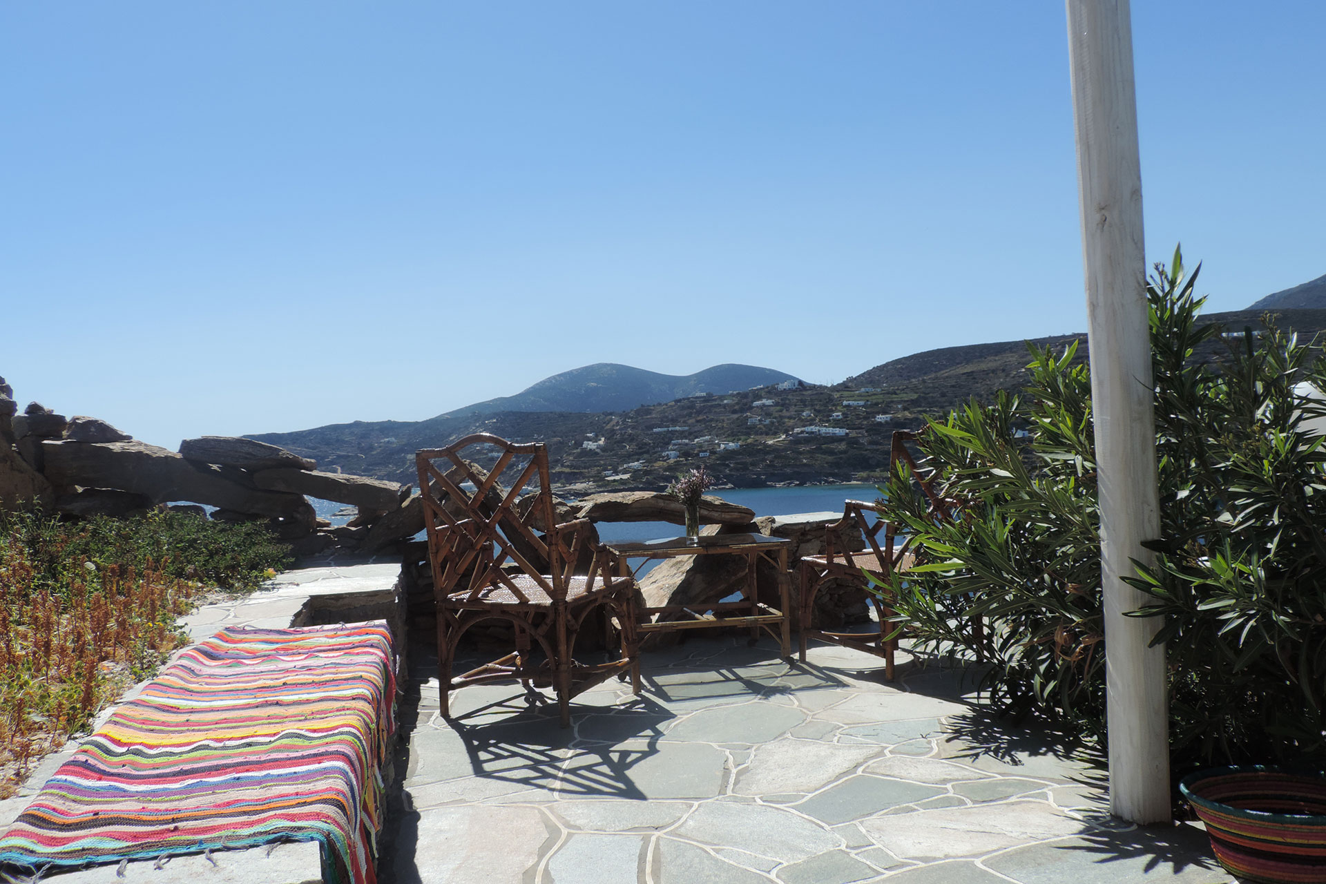 The patio of Thimari traditional house at Sifnos